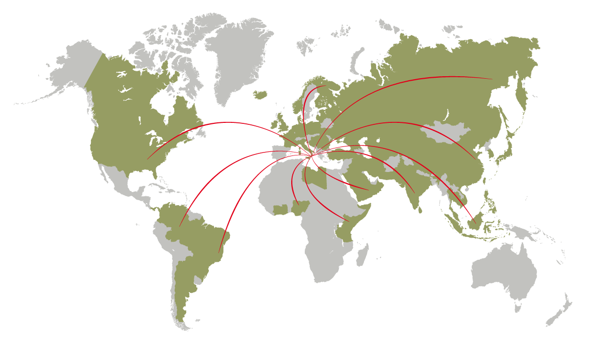 We export our oil to more than 50 countries around the world